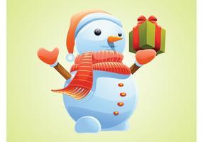 Vecteur de bonhomme de neige de Noël
