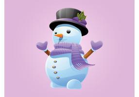Vecteur de bonhomme de neige