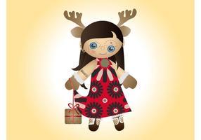 Vecteur de poupée de Noël