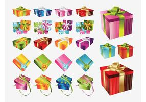 Pacote de Presentes de Natal Vector