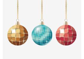 Bolas de brillo de Navidad