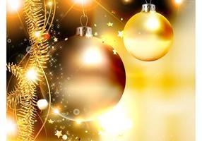 Goldene Weihnachten Vektor