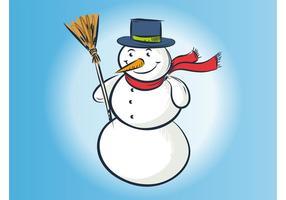 Vector Snowman Drawing