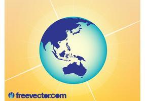Australia And Asia Globe