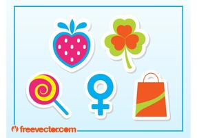 Sticker Vectores gratis