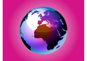 Vector de mundo de colores