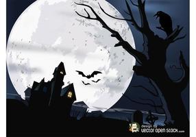 Vector casa de Halloween