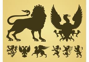 Heraldic Animales Vector