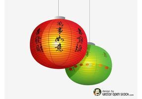 Linternas Chinas Vector