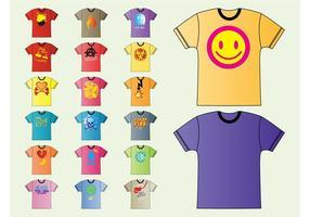 T-shirt de vetores