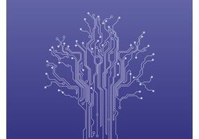 Schaltkreis Baum Vektor