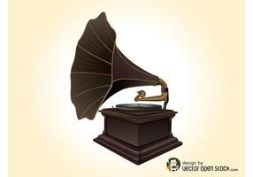 Vector record speler