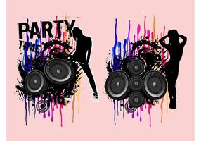 Party-girls-vectors