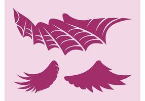 Images d'ailes vectorielles
