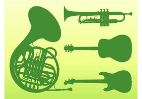 Vetor de instrumentos musicais