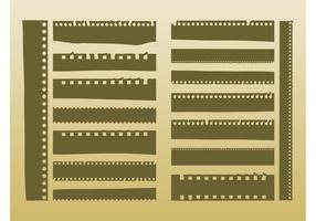 Tiras de filme vetorial