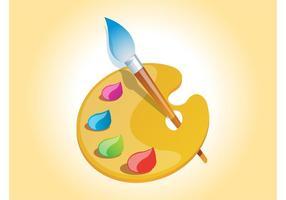 Painter-palette-vector