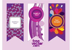 Purpere Vector Banners