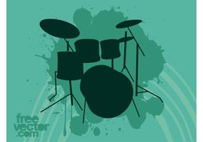 Drum-set-vector