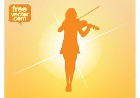 Violin-girl-vector
