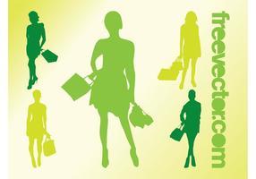Shopping Girls Vectors