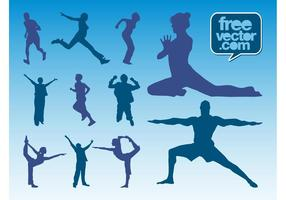 Workout-silhouettes-vector