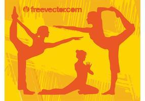 Yoga Mädchen Vektor