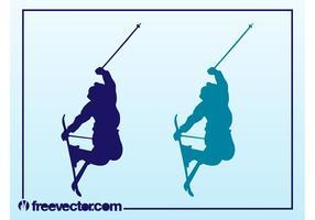 Skispringen Vektor