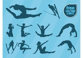 Jumping People Vector Graphics