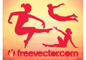 Girls Graceful Vector