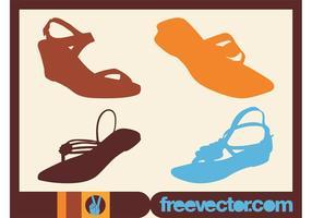 Vecteurs de chaussures d'été