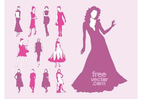 Vector Fashion Models Set