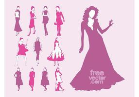 Vector Fashion Models Set