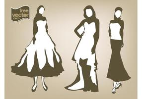 Mulheres em vestidos