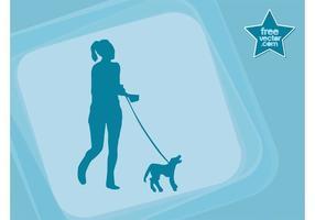 Meisje Met Hond Vector