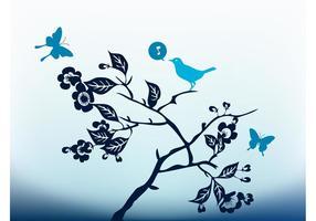 Sjungande fågelvektor