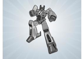 Silver-robot-vector