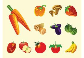 Vetor De Frutas E Legumes