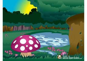 Mushroom Forest Vector