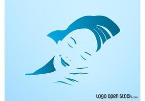Sleeping-woman-vector