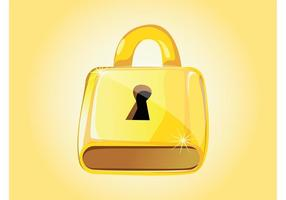 Golden-padlock-vector