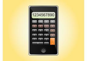 iPhone calculatrice vecteur