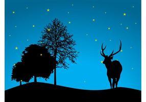 Natt skog vektor