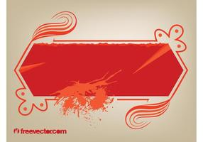 Banner Decorado Com Splatter