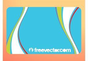 Visitkort Med Färgglada Virvlar