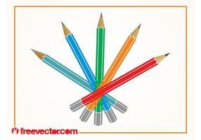 Vecteur de crayons