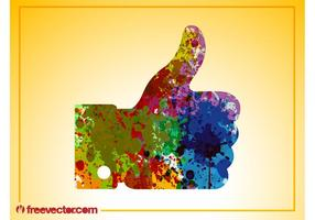 Colorful Like Hand vector