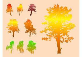 Bunte Vektor Bäume