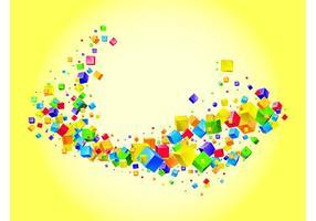 Cubos de arco iris Vector
