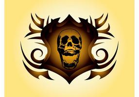 Skull Shield Vector